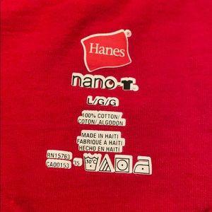 Hanes Shirts - Men's Budweiser Red Size Large Hanes T-shirt